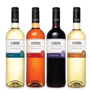 Eisberg no alcohol free wine Chardonnay, Riesling, Rosé and Cabernet Sauvignon