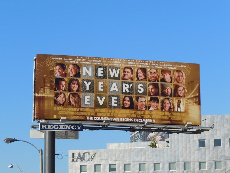 New Year's Eve movie billboard