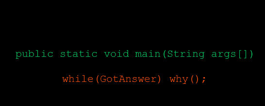 Why is main public static void?