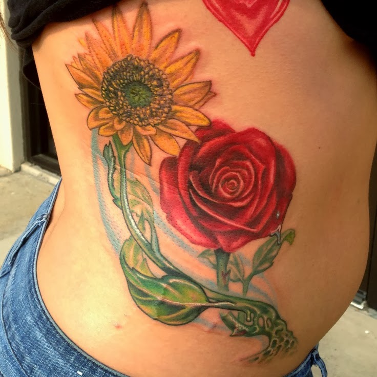 new hairstyle 2014 flower tattoos flower designs for