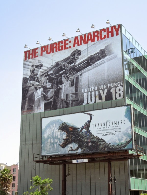 Purge Anarchy giant movie billboard