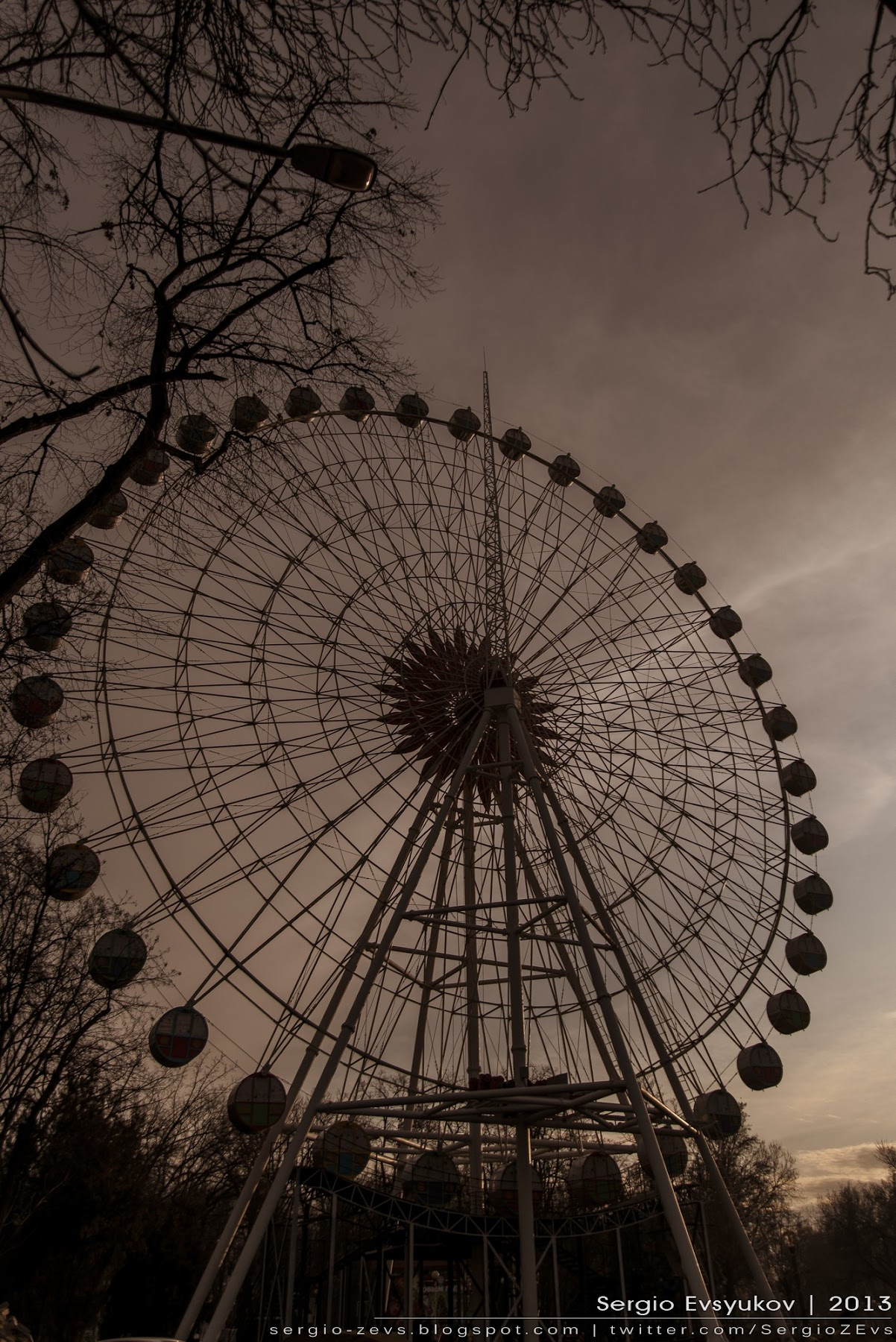 Krasnodar Ferris Wheel in City garden