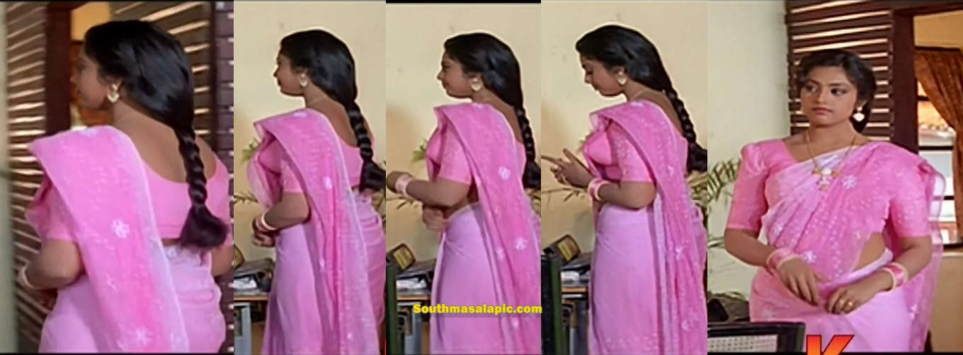 Meena Hot Side view in Saree from Thai Maman | South Masala Pic Album ...