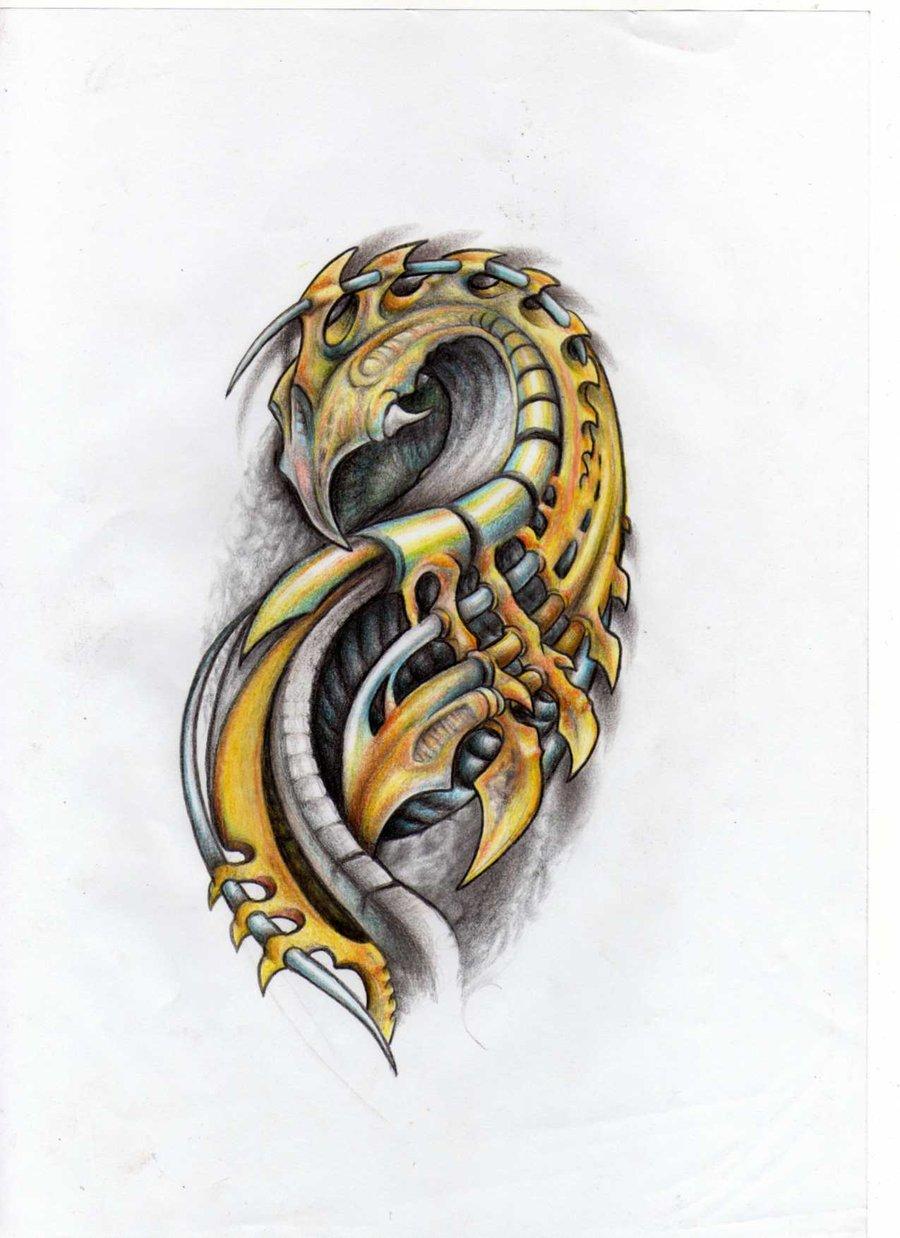 Biomechanical tattoos designs - Biomechanical Tattoos