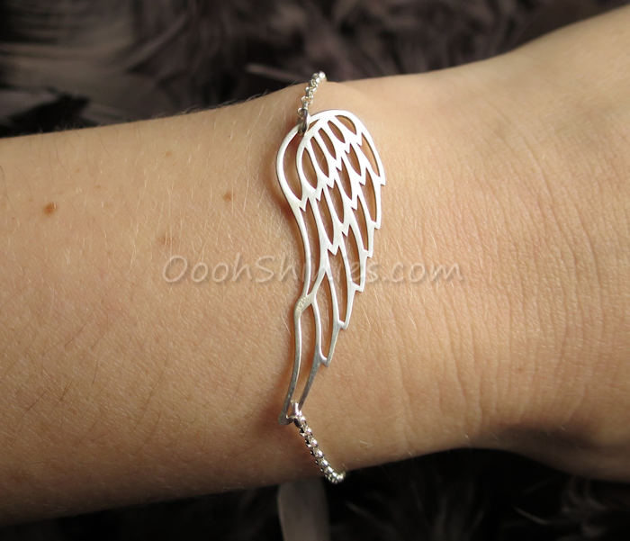Onecklace silver wing bracelet