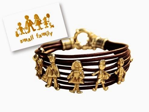 pulsera cuero plata small family personalizada