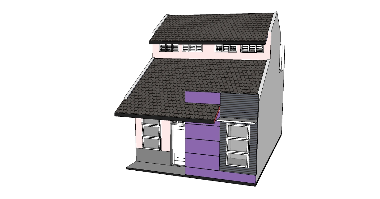 belajar menggambar desain rumah 6 x 9 m