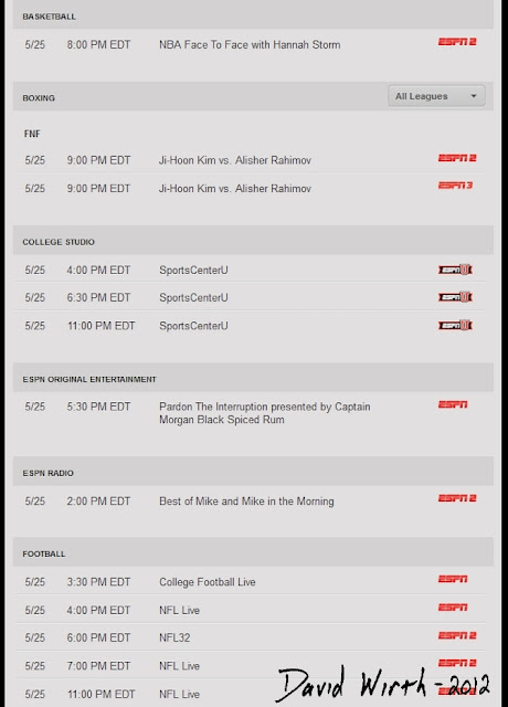 espn 360 show schedule guide list of games football college basketball live online stream tv
