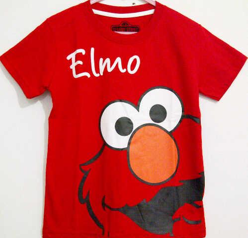 Model Kaos Anak Karakter Elmo Warna Merah