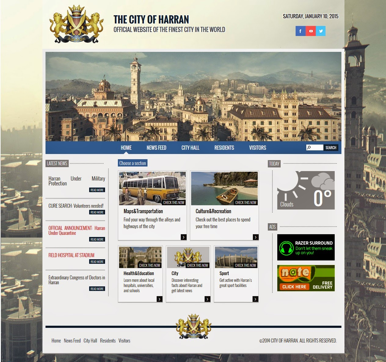 The City of Harrn (homepage)