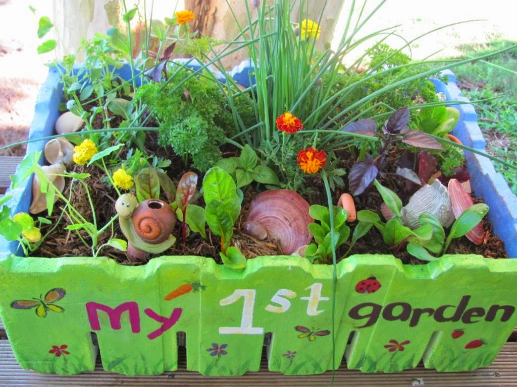 Ideas For A Mini Garden Kids Radish Easy To Grow Flowers Corn Tiny Cherry Tomatoes Currant Toametoes Pumpins Can Carve Name