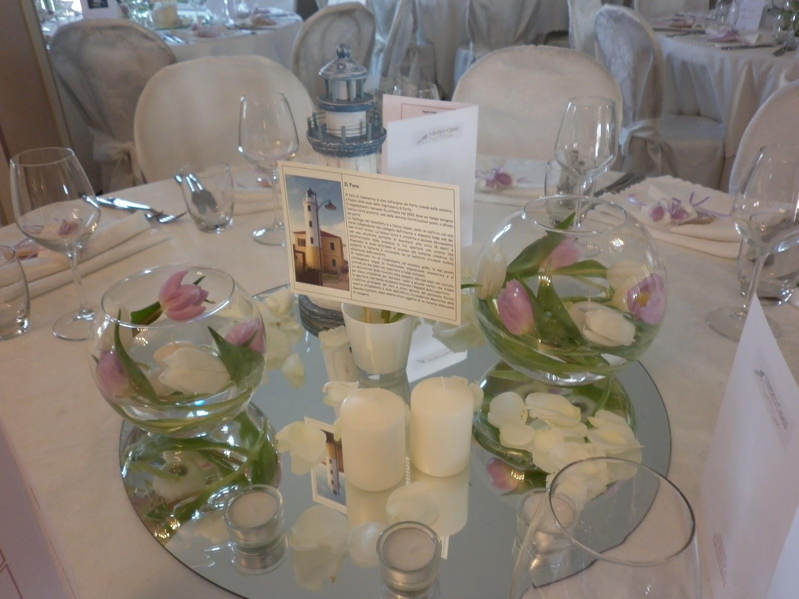 Mareventi wedding planner ravenna allestimenti floreali for Addobbi tavoli matrimonio con candele