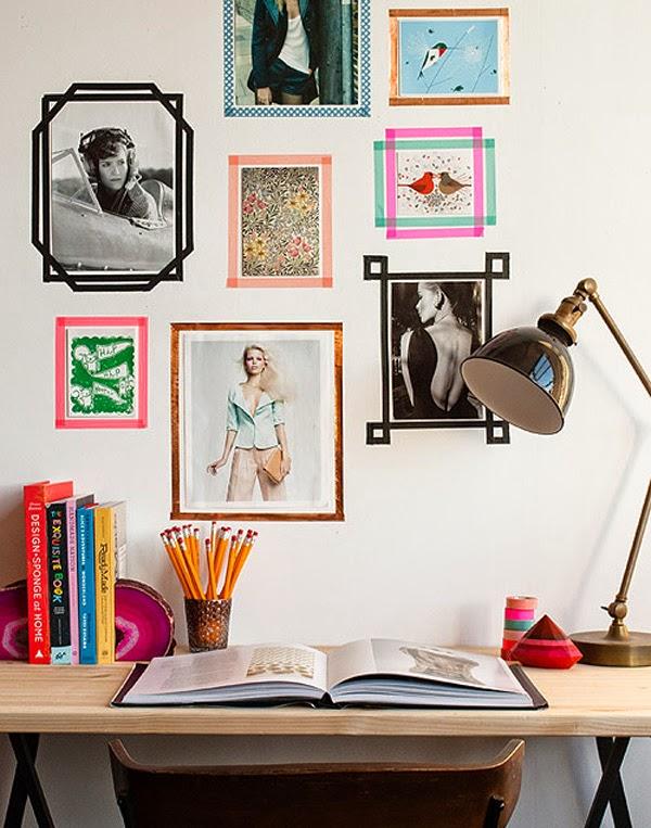 marcos para fotos hechos con washi tape idea para colocar fotos en la pared
