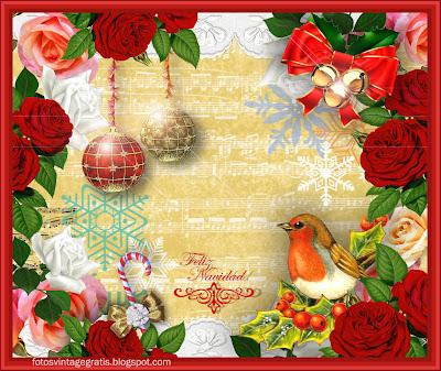 collage navideño vintage