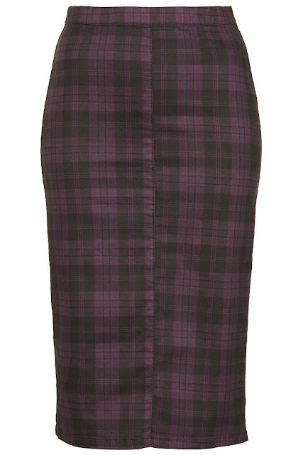 purple check skirt