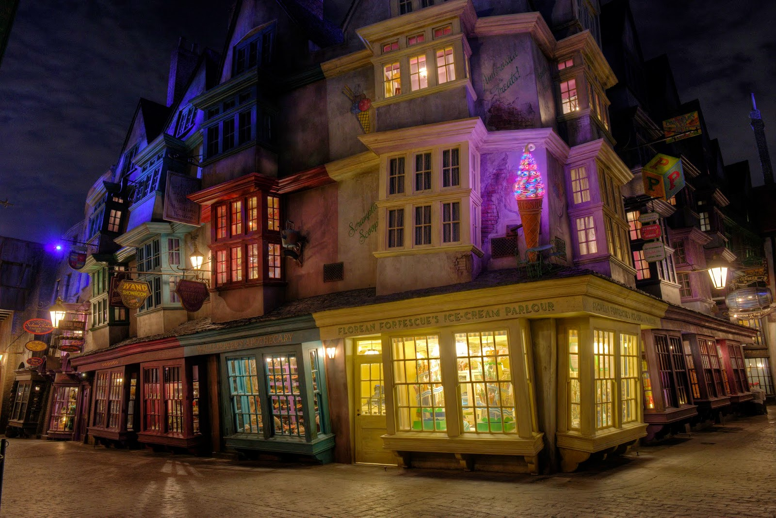 Florean Fortescue's Ice Cream Parlor Diagon Alley
