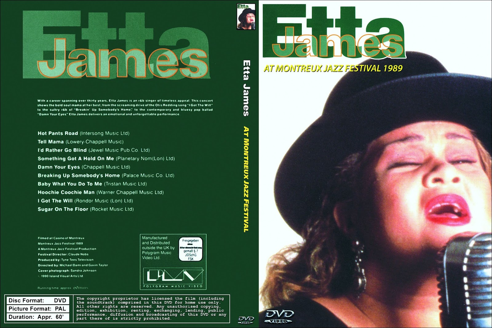 ETTA JAMES On DVD