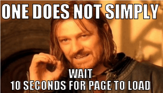 page load time over 10 seconds is bad