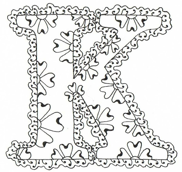 Decorative Letters K Coloring Pages