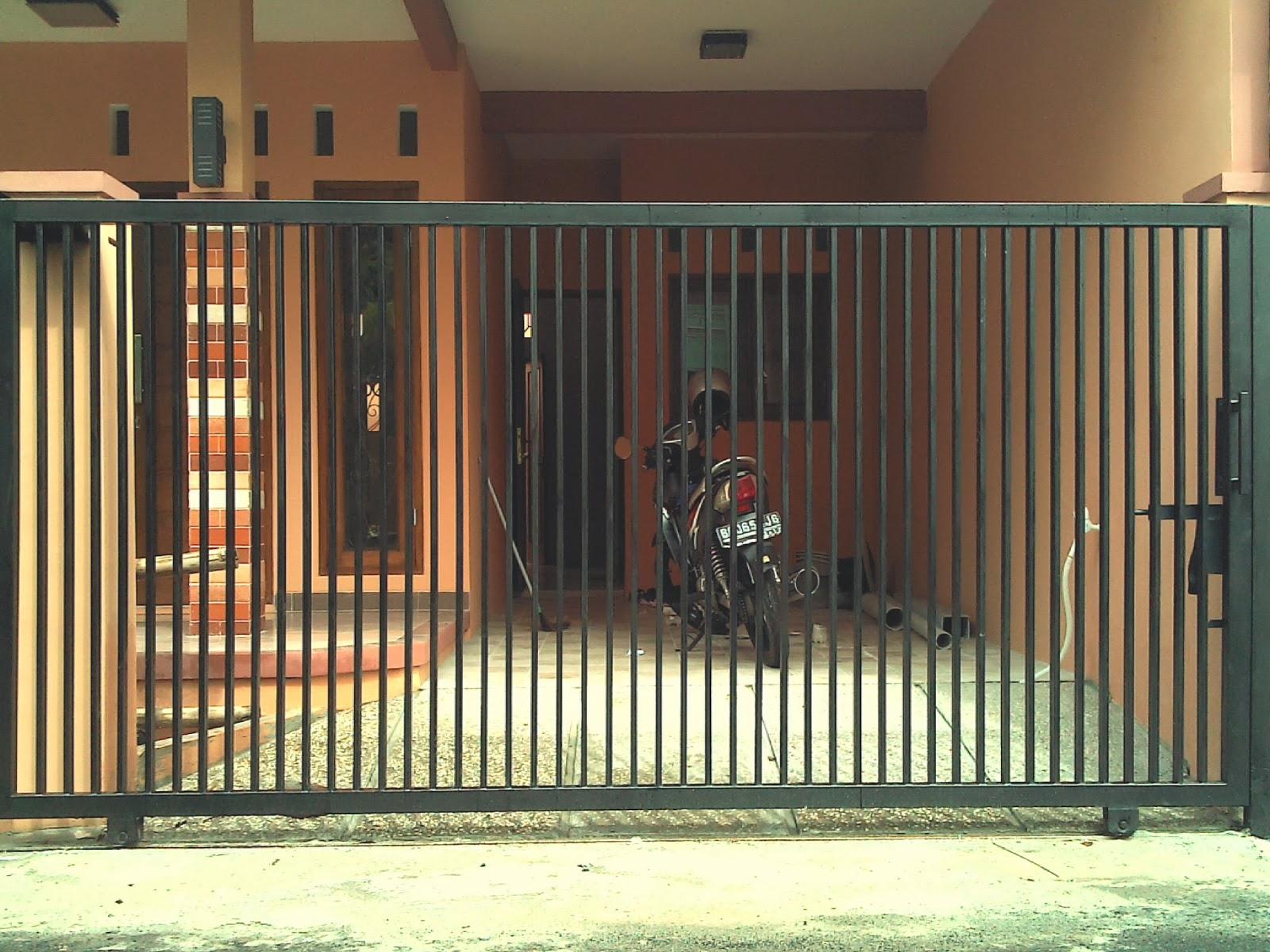 pintu dorong minimalis misbah jaya las
