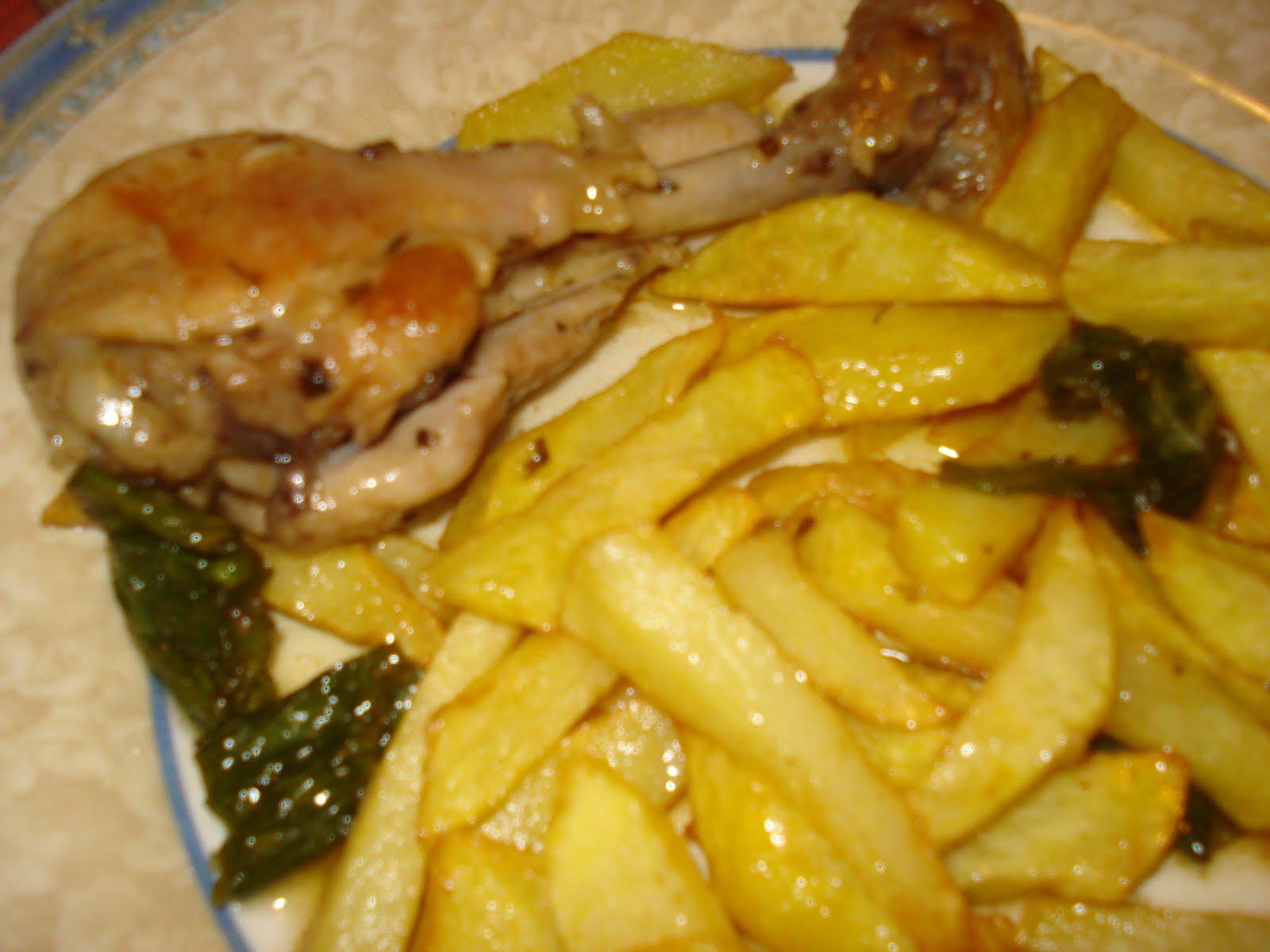 Menu del dia muslitos de pollo al ajillo fussion cook - Muslitos de pollo ...