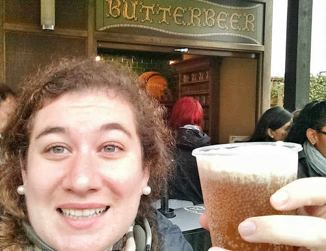 First taste of butterbeer courtesy of the Warner Bros. London Studio Harry Potter Tour