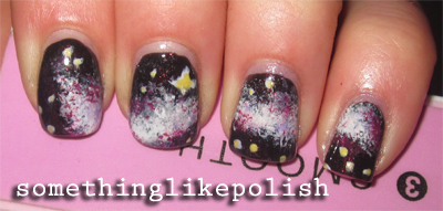 galaxies nail art galaxy