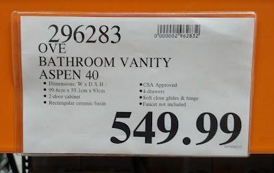 Ove Aspen Vanity Costco item 296283