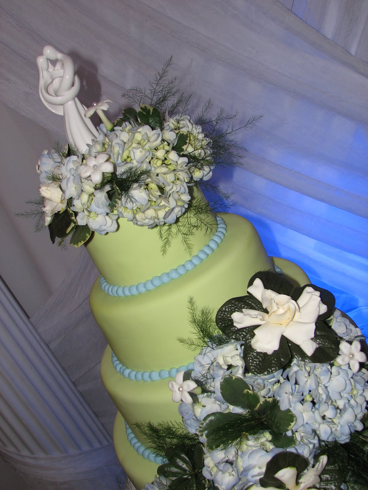 Decadent Designs David and Mayra s Green Blue Wedding Cake