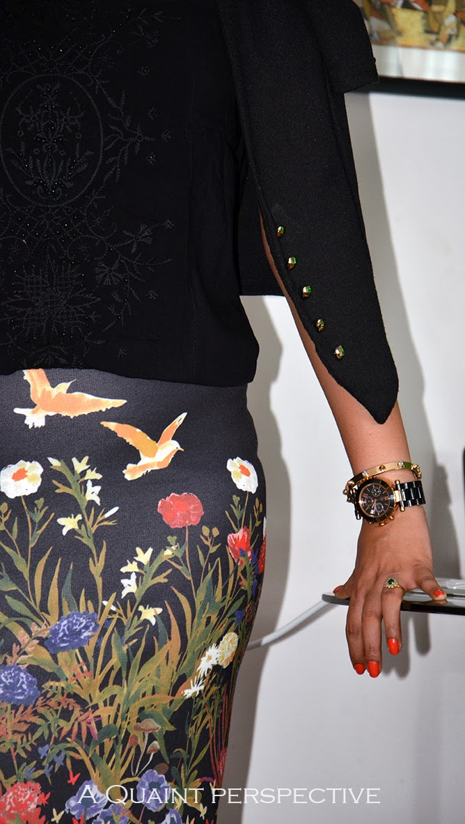 timepiece add to her look at the same time being extremely practical.