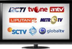 RCTI, ANTV, SCTV, INDOSIAR, MNCTV, TRANSTV, GLOBALTV, METROTV, TRANS7, TVONE, MIVOTV