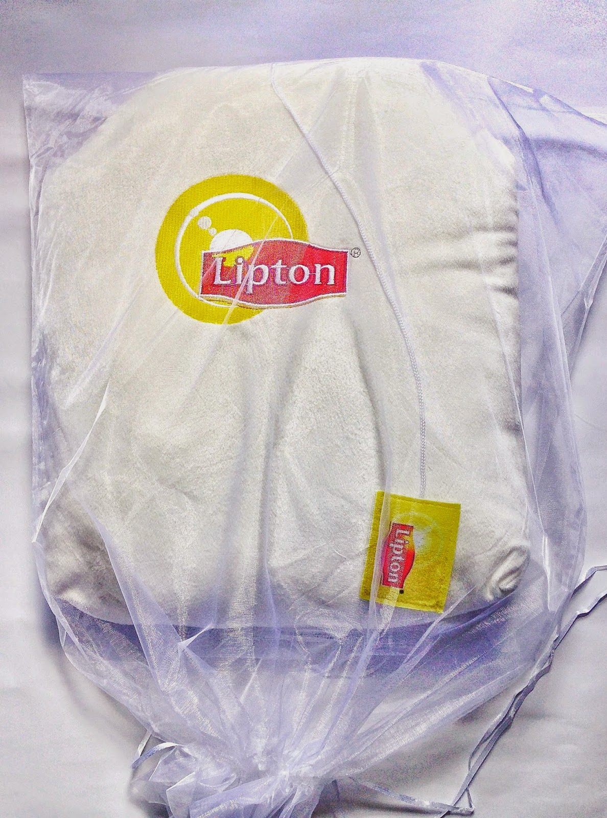 Giant Lipton Teabag Cushion