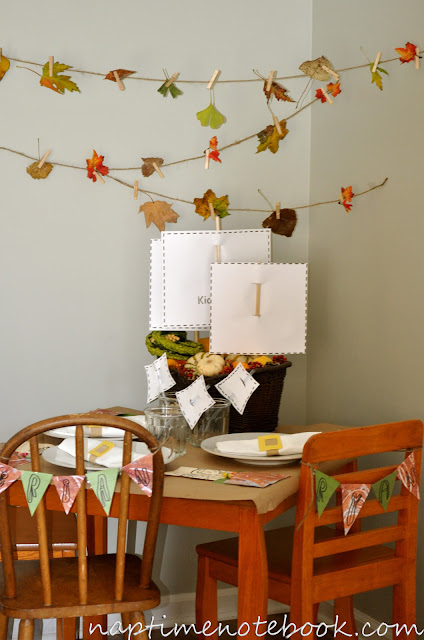 Thanksgiving Placesetting Kids