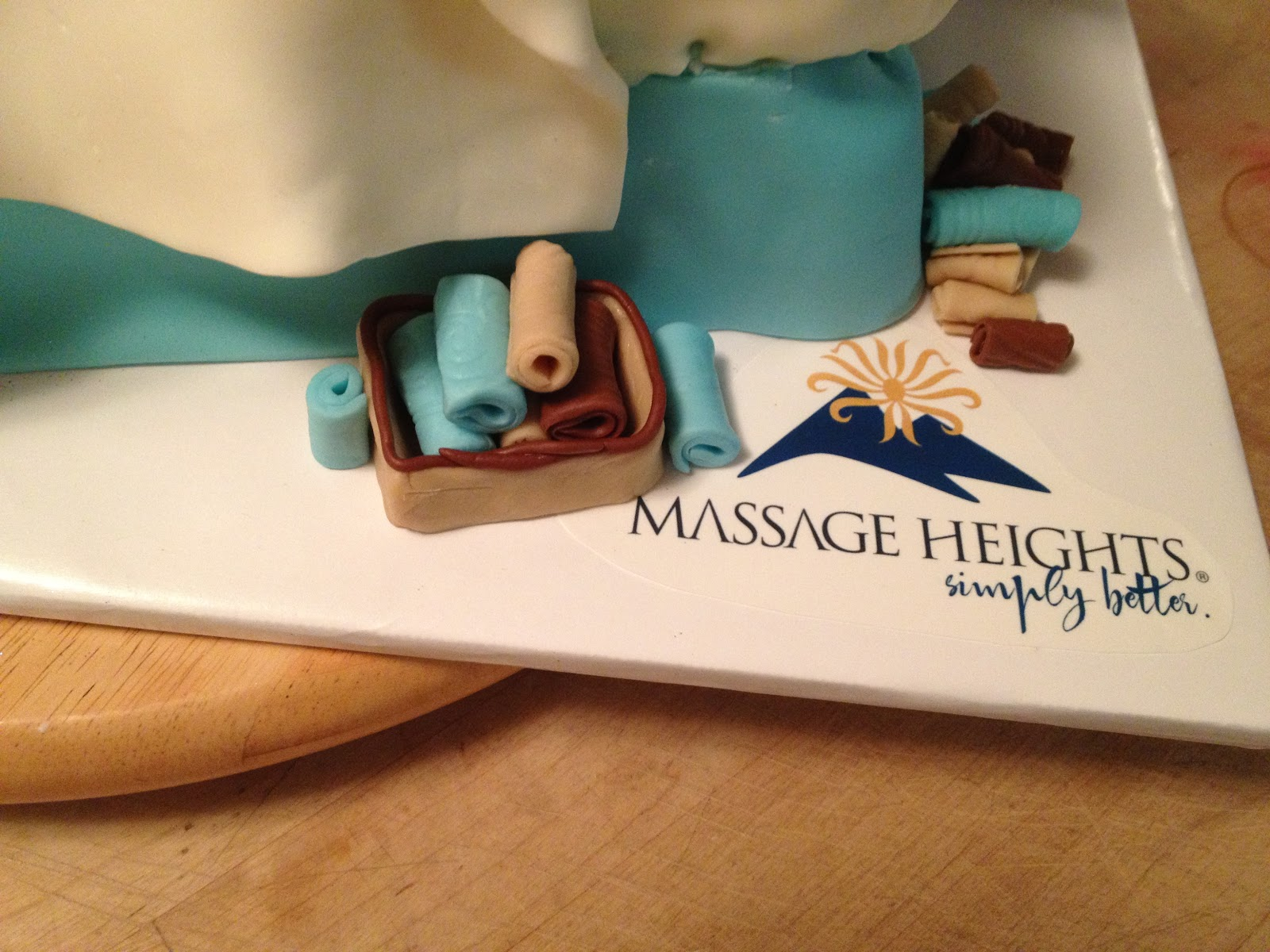 cakecreated massage heights massage table cake