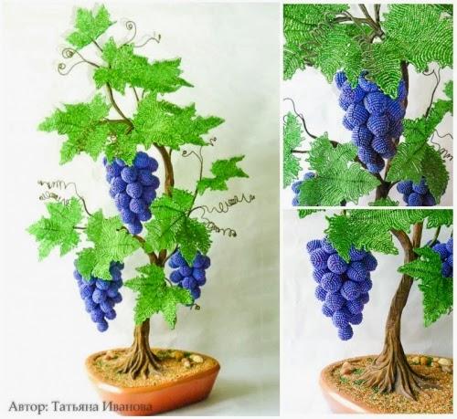виноградная лоза из бисера