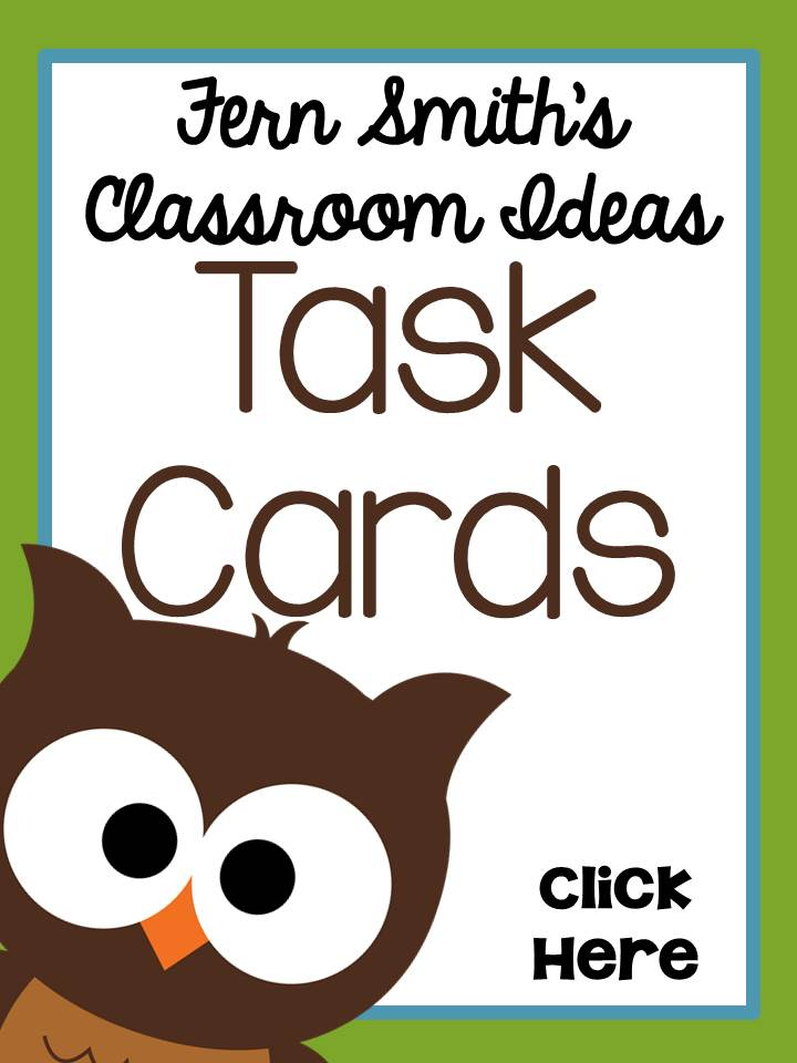 Fern Smith's Classroom Ideas Task Cards Web Sites