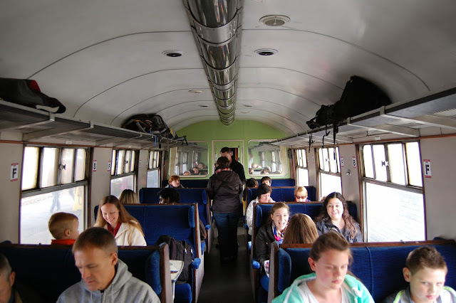 Standard class coach interior for the Jacobite Steam Train