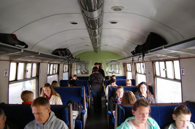 Standard class coach interior for the Jacobite Steam Train