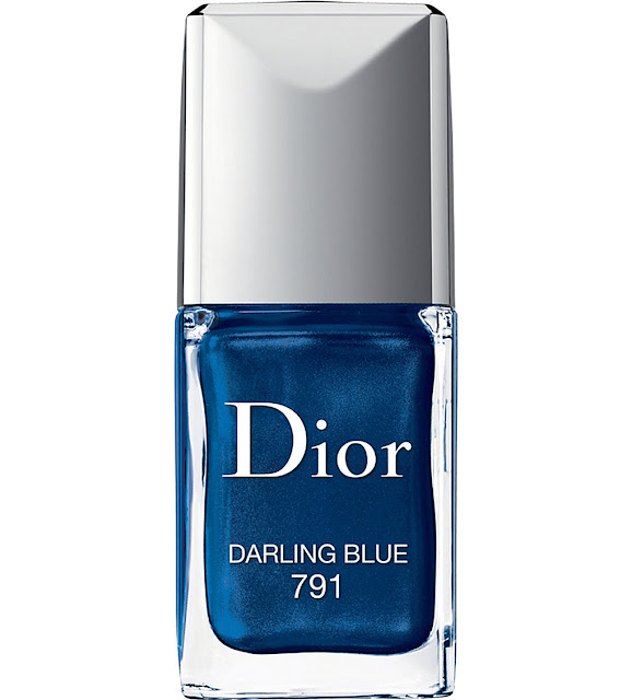 dior blue nail polish, metallic blue nail polish,
