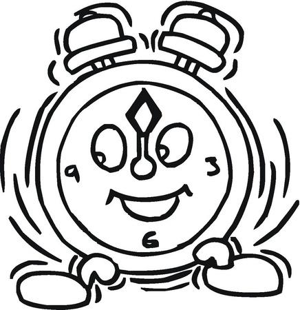 reloj dibujo para colorear