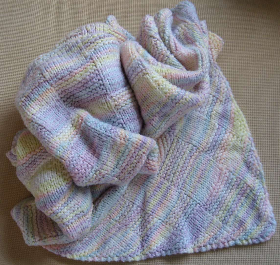 Knitting Pattern Blanket Baby : knit baby blanket-Knitting Gallery