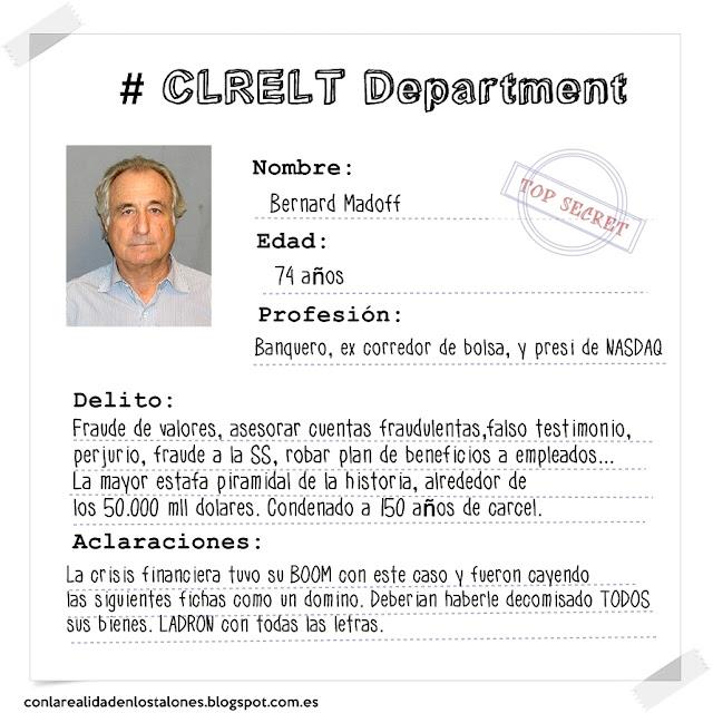 Bernard Madoff  - Mugshot Con la realidad en los talones. Ficha policial de detención.