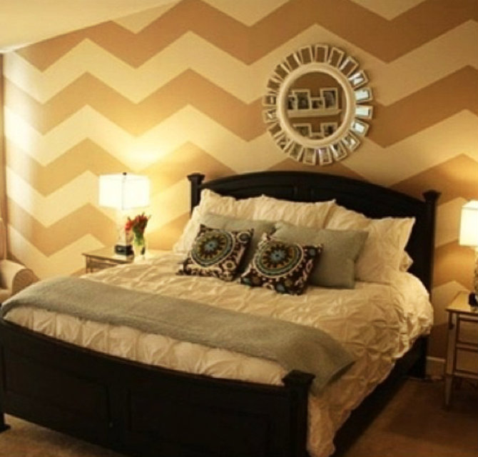 Glamorous Chevron Bedroom Set