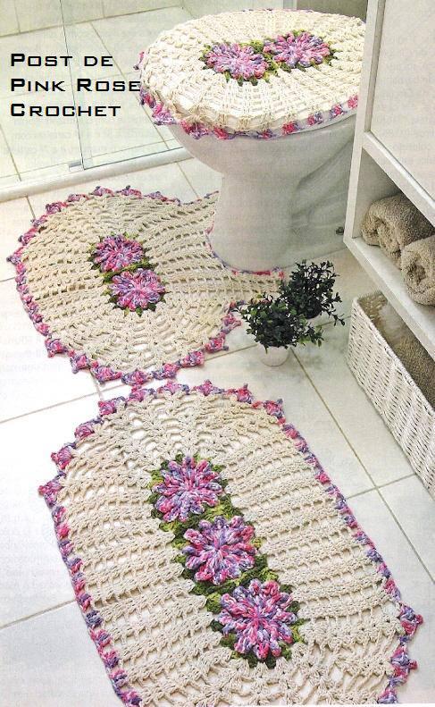 juego de ba o tejido a crochet. Black Bedroom Furniture Sets. Home Design Ideas