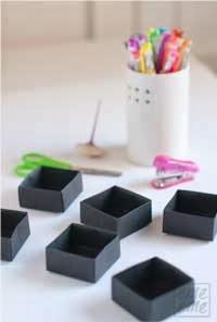 Caja reciclada para abalorios en Recicla Inventa