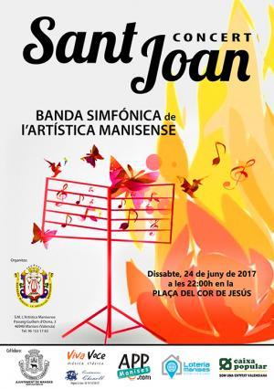 24.06.17 FESTA A SANT JOAN, CONCERT DE L'ARTISTICA MANISENSE EN PL C DE JESÚS