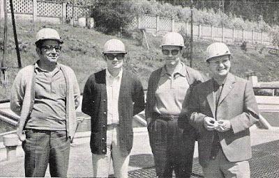 Manuel Vega, José  Carlos Menéndez, José Luis Fanjul y Vicente Andrés Gimeno en Llaranes 1970