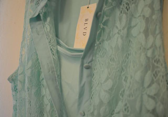 BLVD Collection Mint Lace Jumper