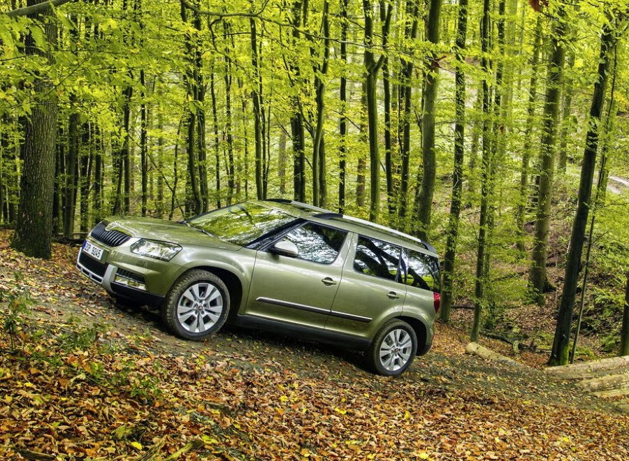 Imagine cu noua Skoda Yeti off-road