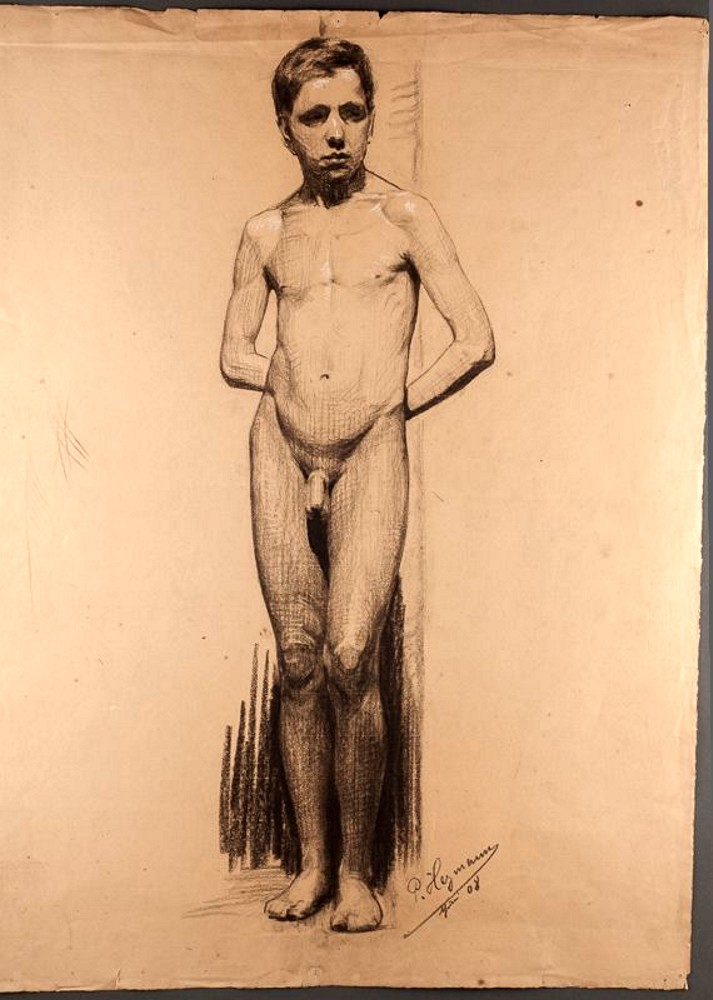 Piece 19th century nude men